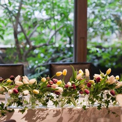 フランス料理レストランKEISUKEMATSUSHIMAのテーブルコーディネート