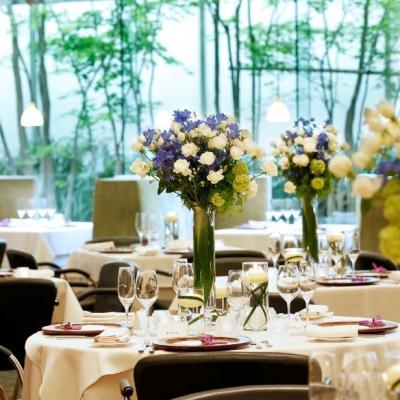 結婚式場アクアヴィットのテーブルコーディネート