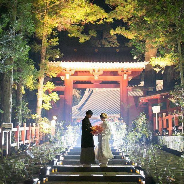 日光二荒山神社のナイトウェディング