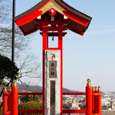 恋人の聖地 足利織姫神社の愛の鐘