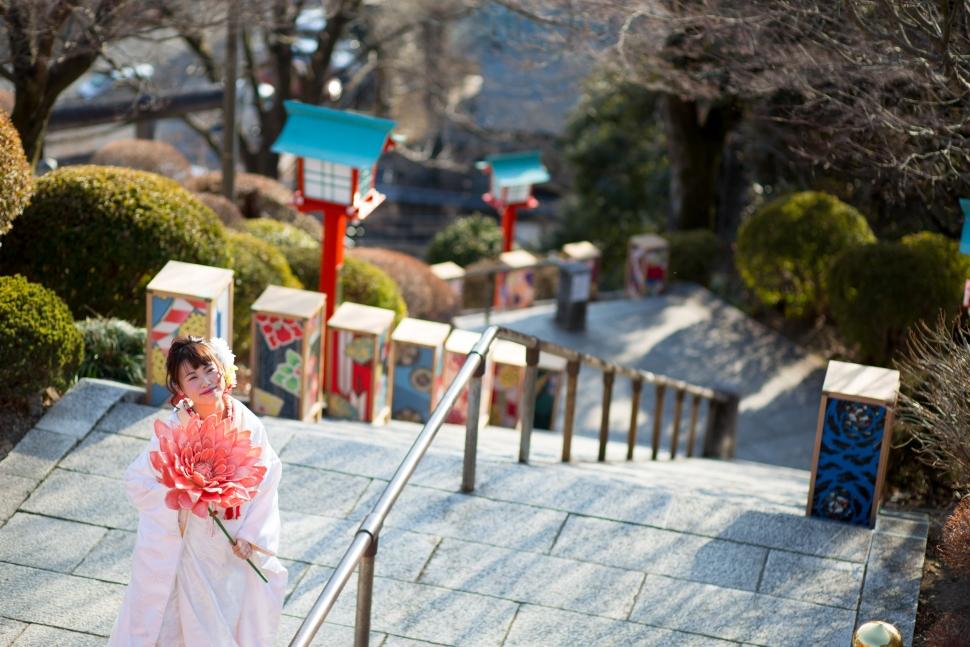 足利織姫神社でウェディングフォト