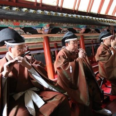 日光東照宮の挙式で楽器の生演奏