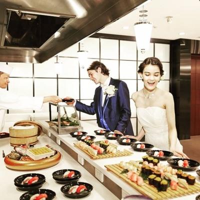 結婚式場のお寿司バー