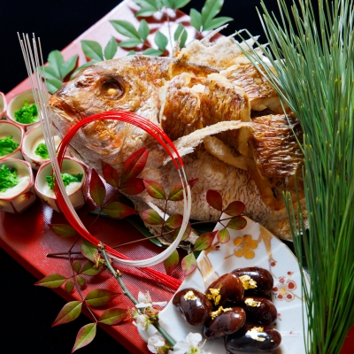言乃葉の鯛料理