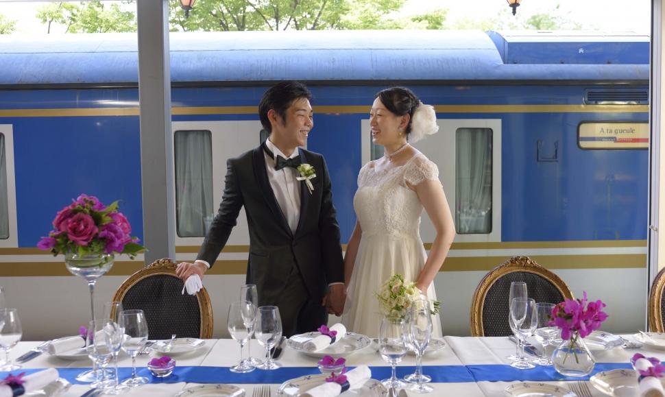 電車が見える結婚式場