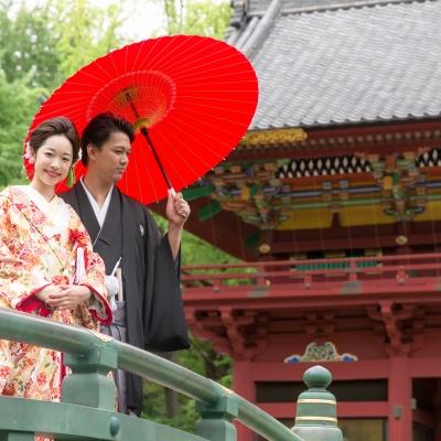 根津神社で神前式