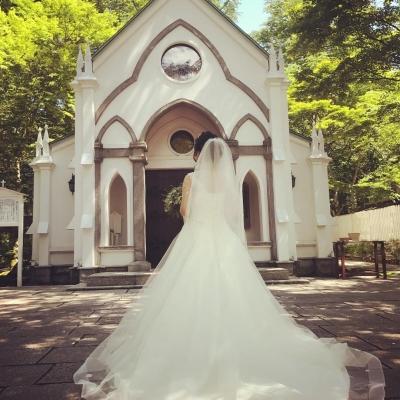 旧軽井沢礼拝堂と花嫁