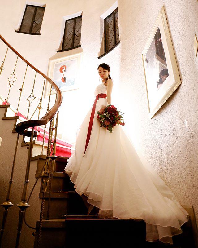 ミュージアム1999ロアラブッシュの螺旋階段で記念写真撮影