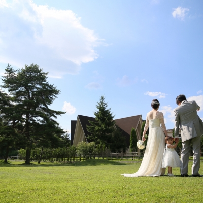 リゾート地軽井沢で挙げるパパママ婚