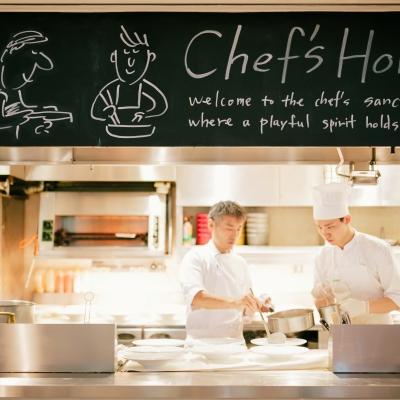 レストランキハチのオープンキッチン