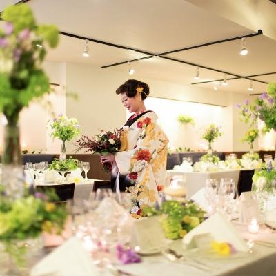 結婚式場ラレンツァの会食会場