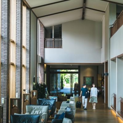 ホテルハーヴェスト旧軽井沢のロビー