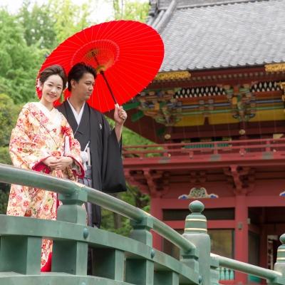 根津神社でロケーションフォト