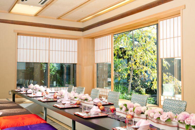 料亭つきじの食事会の出来る個室