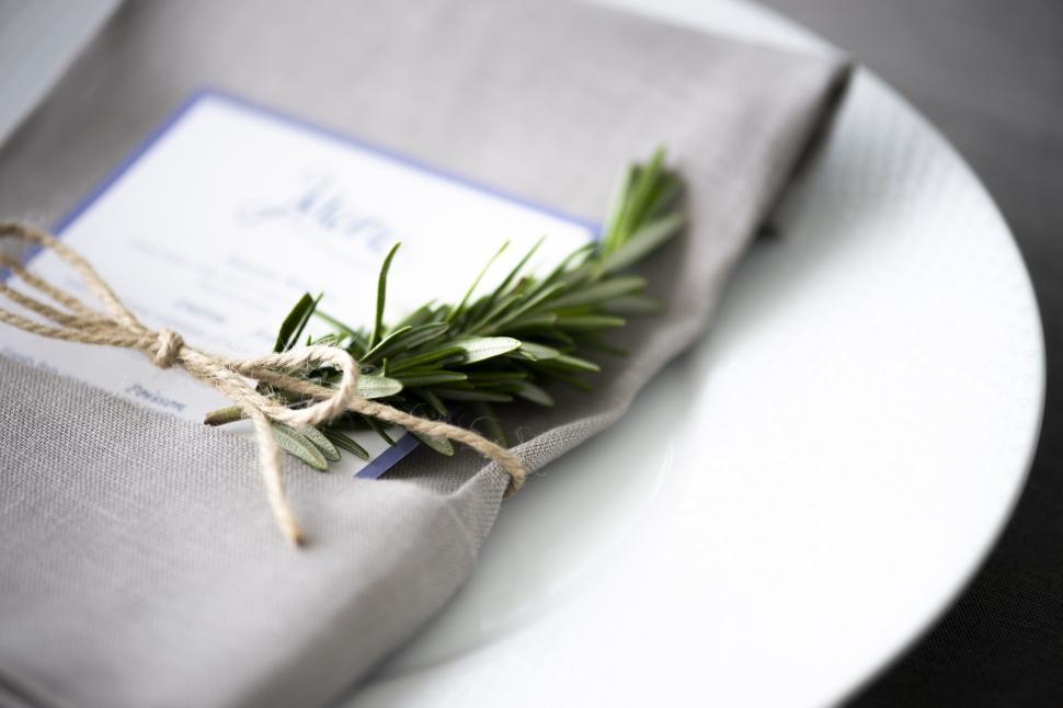 結婚式のお料理のメニュー表