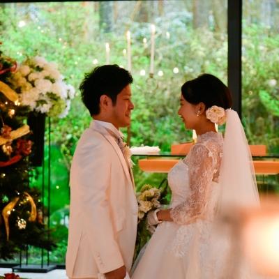 箱根の森高原教会で挙式