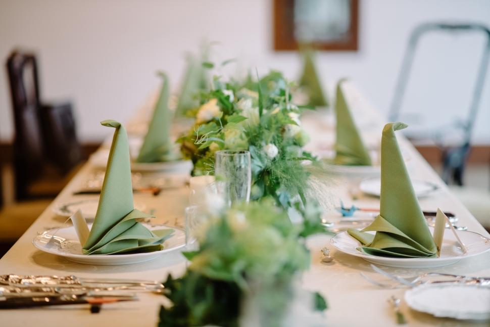 レストランラファエルのテーブルコーディネート