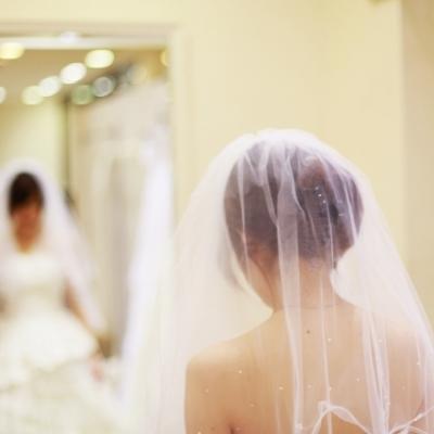 挙式前の花嫁